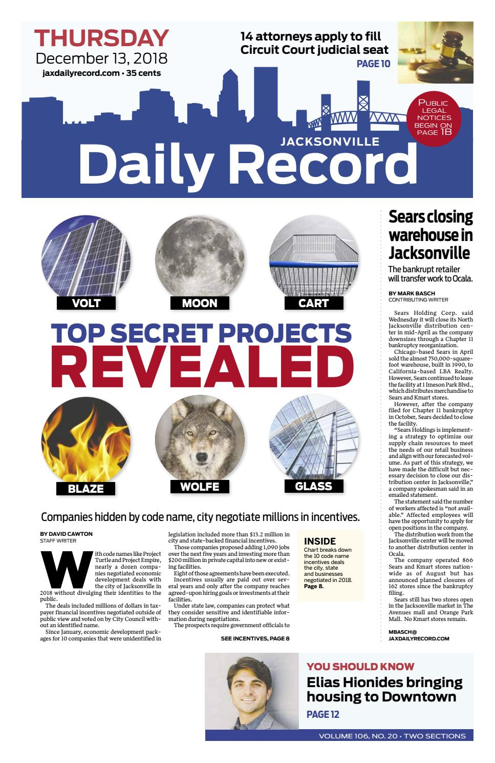 Jacksonville Daily Record 12/13/18 by Daily Record ... on