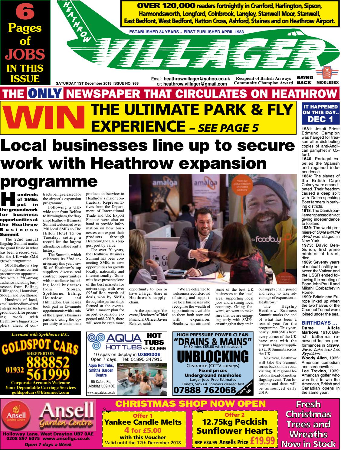 f008f6a6e37 Heathrow Villager Saturday 1 December 2018 Issue 938 by ...
