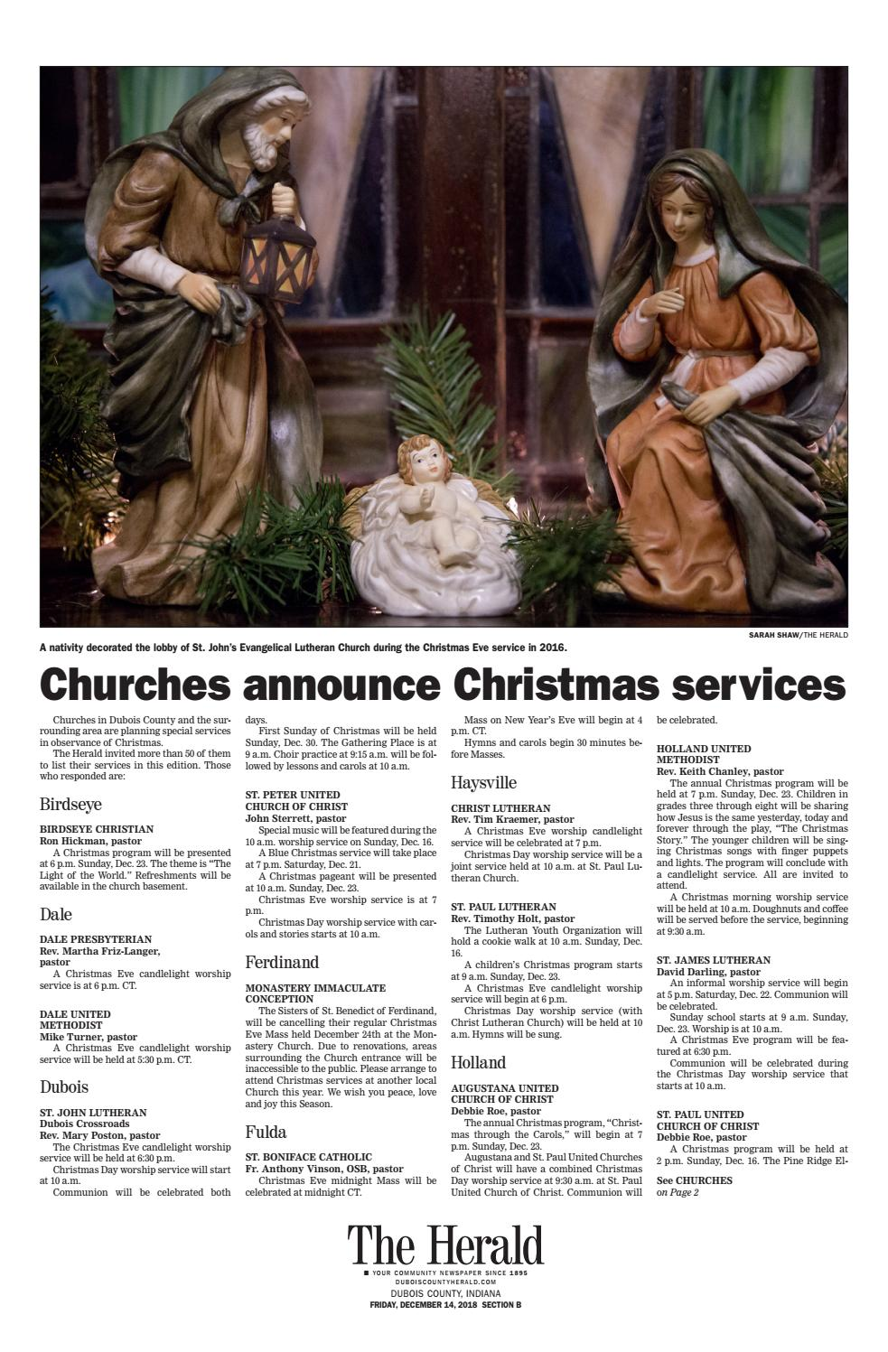 Lutheran Chorale Christmas 2020 Kern County 2018 Christmas Greetings by The Herald   issuu