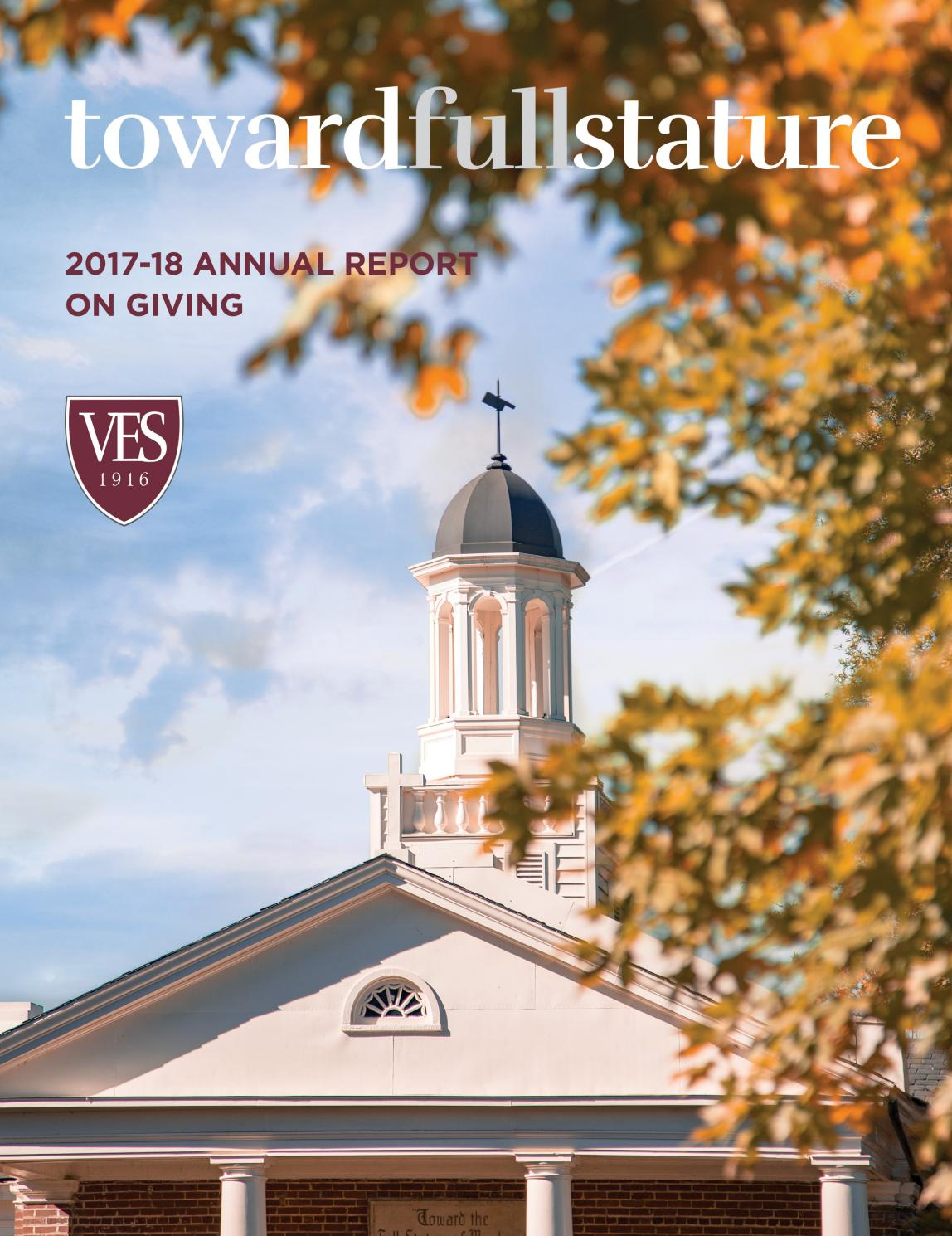 Virginia Episcopal School - 2017-18 Annual Report on Giving by VES_