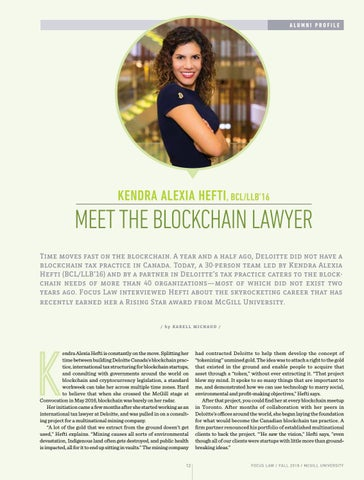 Page 14 of Meet the Blockchain Lawyer: Interview with Kendra Alexia Hefti, BCL/LLB'16
