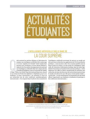 Page 16 of Actualités étudiantes