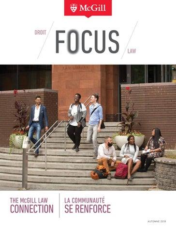 Focus 2018: The McGill Law Connection | La communauté se