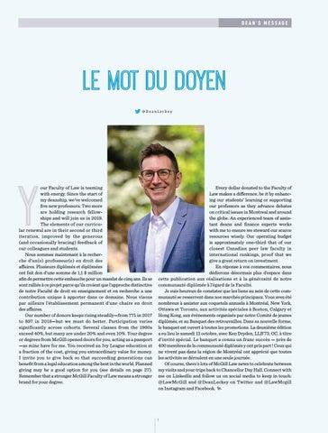 Page 3 of Le mot du doyen