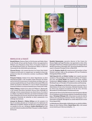 Page 4 of Nouvelles de la Faculté