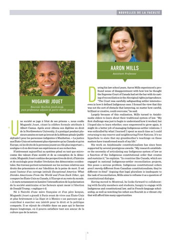 Page 7 of Meet our new professors: Aaron Mills