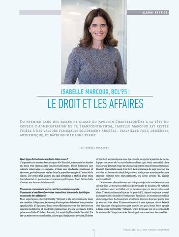 Page 8 of Entrevue avec Isabelle Marcoux, BCL'95: Le droit et les affaires