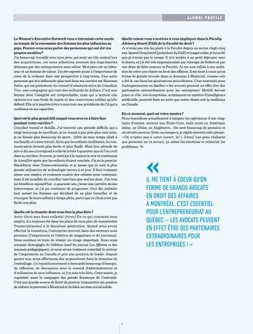 Page 9 of Entrevue avec Isabelle Marcoux, BCL'95: Le droit et les affaires