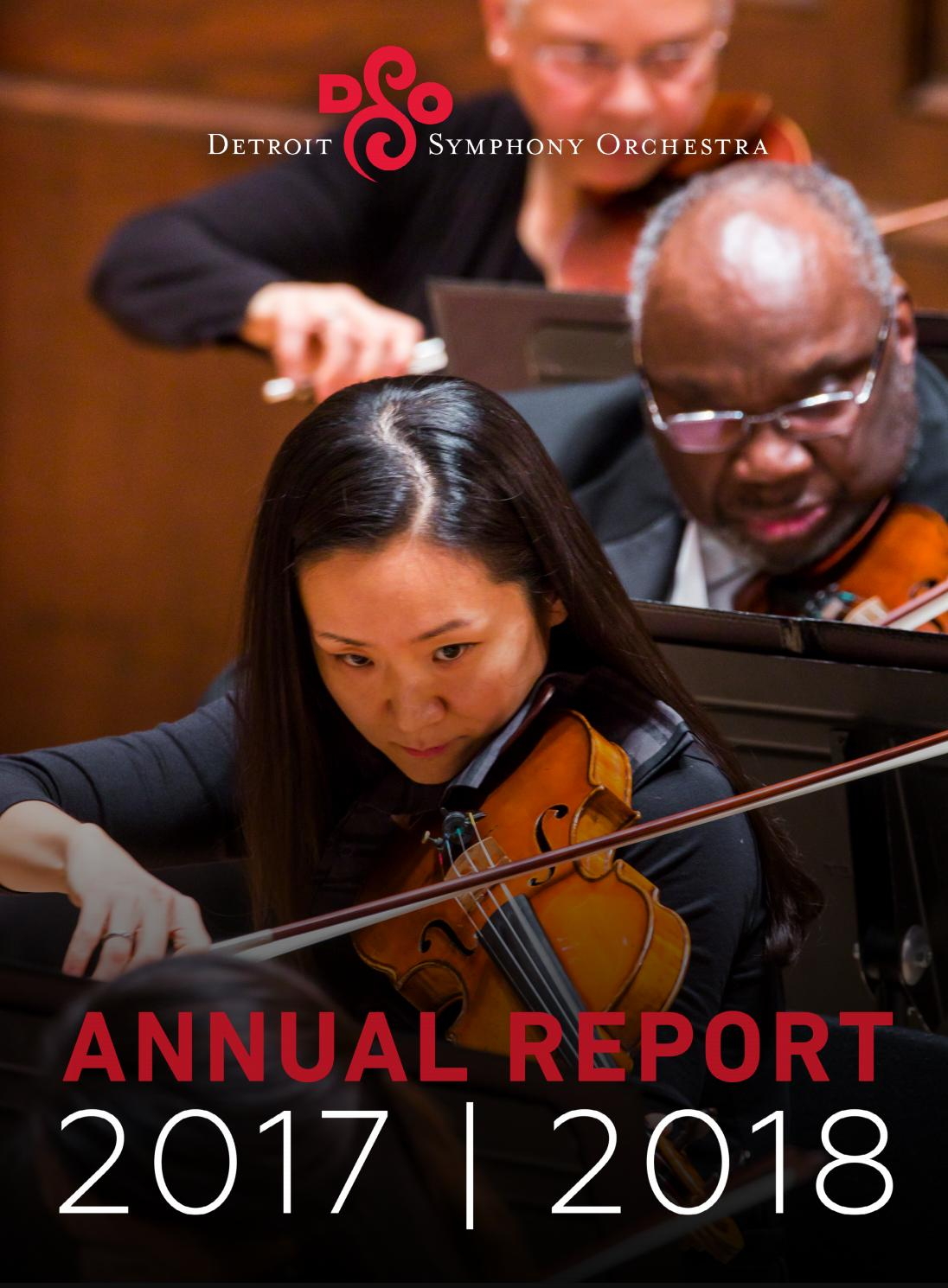 DSO Annual Report 2017-2018 by Detroit Symphony Orchestra - issuu