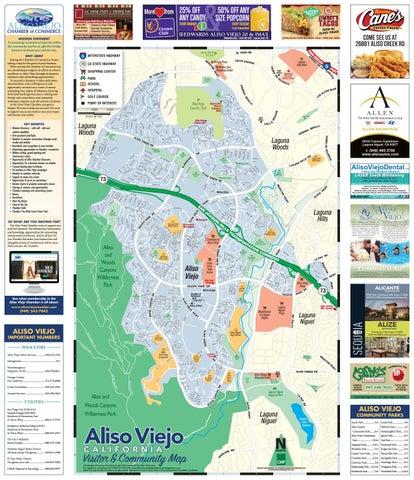 Aliso Viejo California Chamber of Commerce Street Map by ... on starling street aliso viejo california, map of aliso vallejo ca, map of lakeville minnesota,