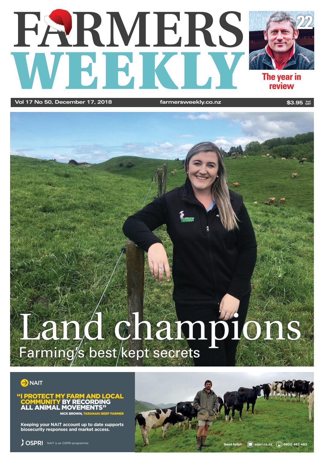 Farmers Weekly NZ December 17 2018 by Farmers Weekly NZ - issuu