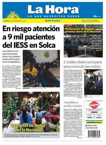 7b7dc1d830a1c Quito 14 de diciembre de 2018 by Diario La Hora Ecuador - issuu