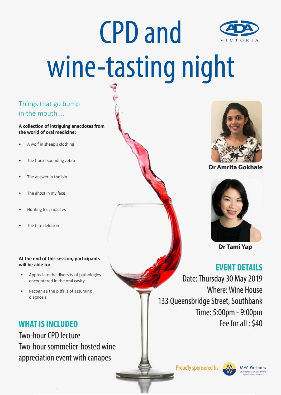 30 05 2019 - CPD and wine-tasting night by ADAVB Inc  - issuu