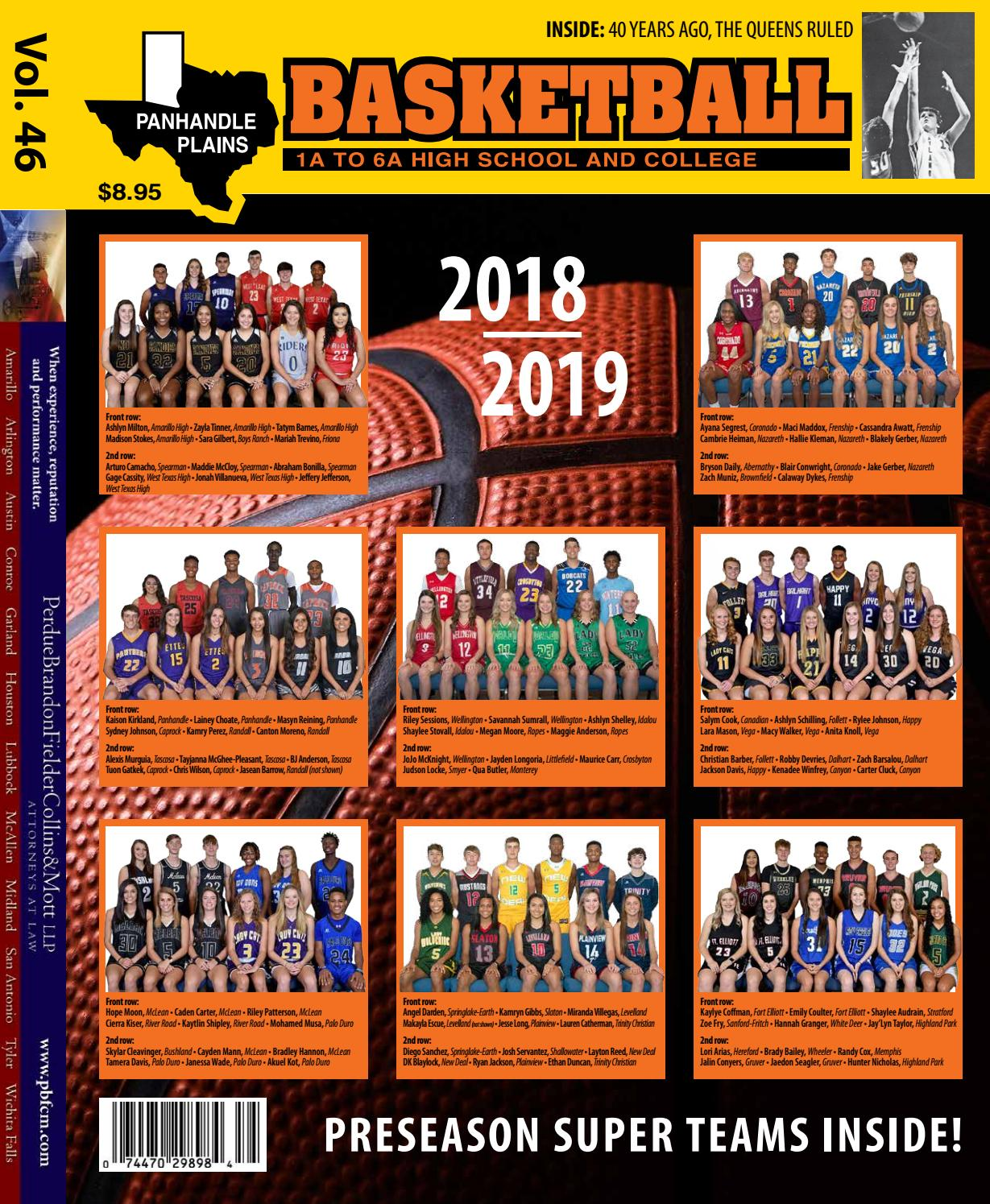 Panhandle Plains Basketball Magazine 2018 19 by ppb.haynes