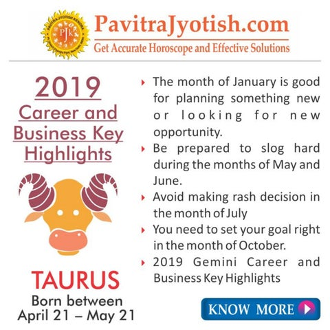 807865454 2019 Taurus Yearly Horoscope Predictions by Pavitra Jyotish Kendra ...