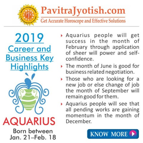 2019 Aquarius Career and Business Horoscope by Pavitra