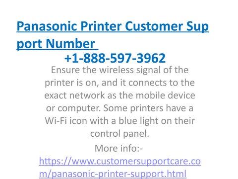 Panasonic Phone Number >> Panasonic Printer Tech Support Phone Number By Martinpaul23071993