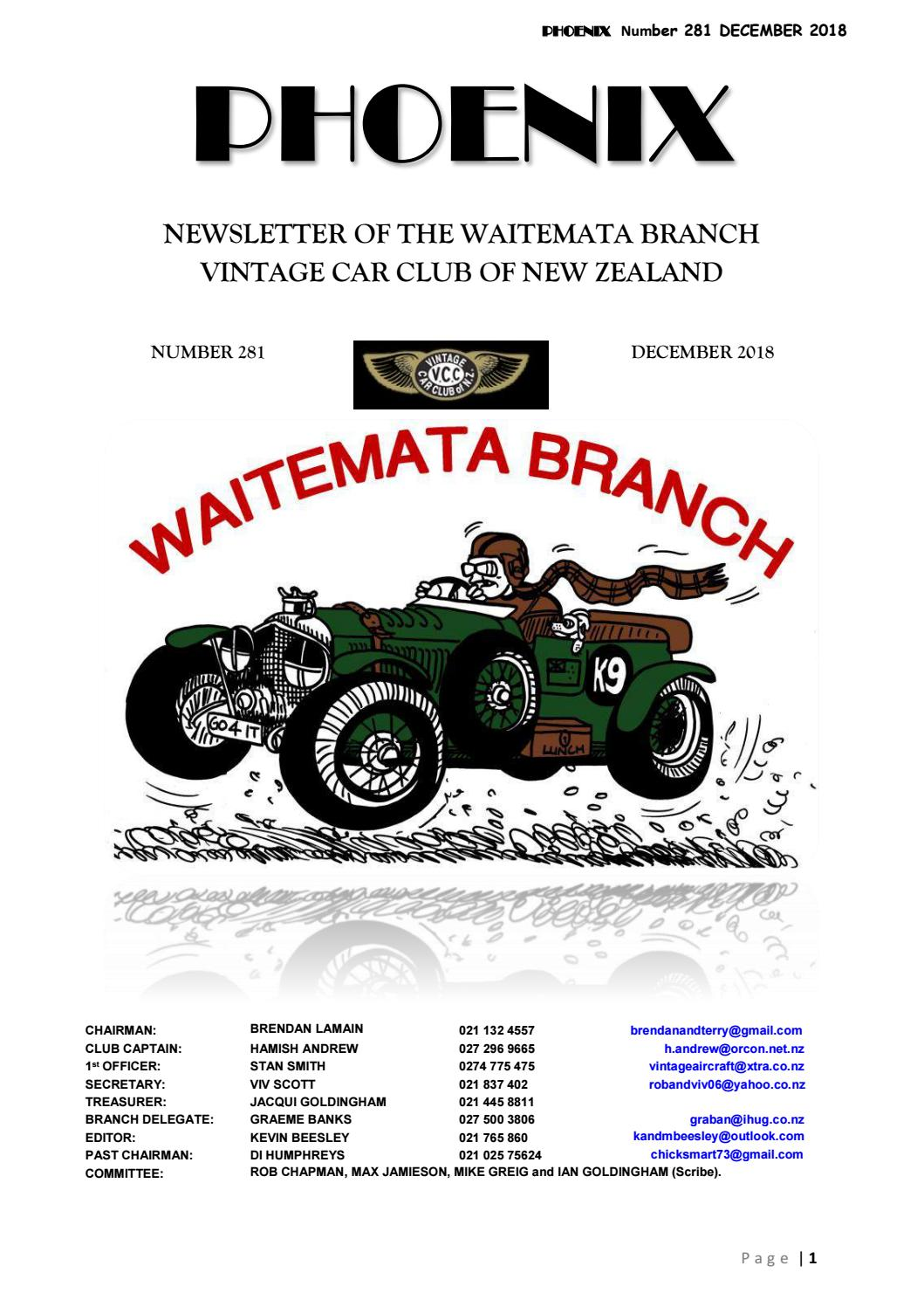 Waitemata VCC December 2018 by Vintage Car Club of New