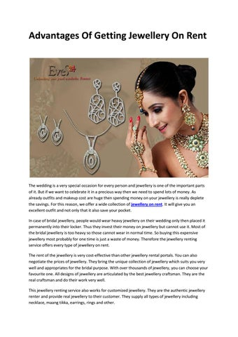 Advantages Of Getting Jewellery On Rent By Eves24 Issuu