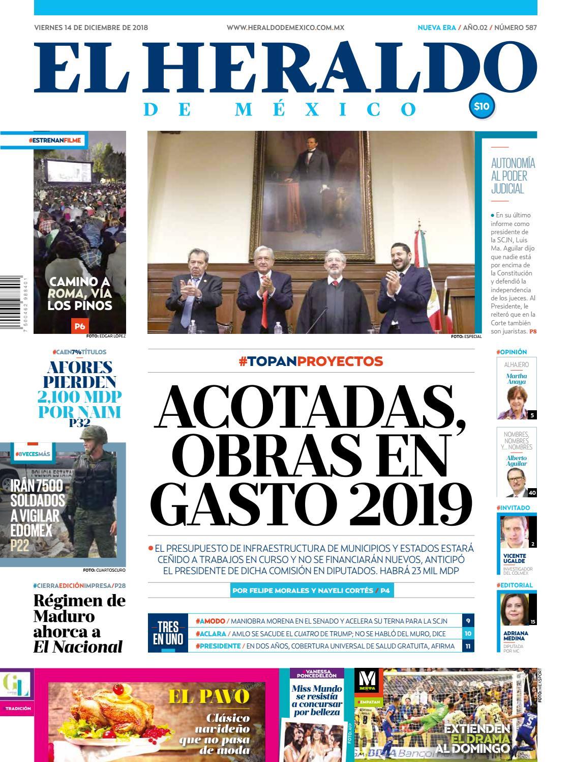 14 de diciembre de 2018 by El Heraldo de México - issuu 64a2c95074e00
