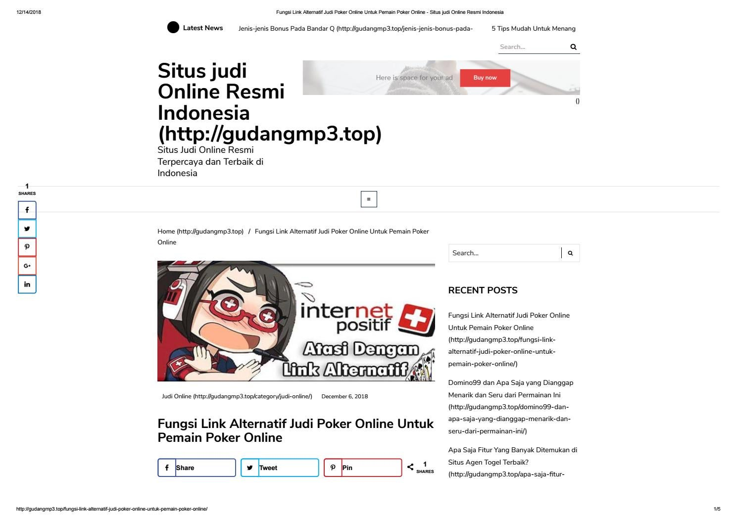Fungsi Link Alternatif Judi Poker Online Untuk Pemain Poker Online By Wsd88qq Official Issuu