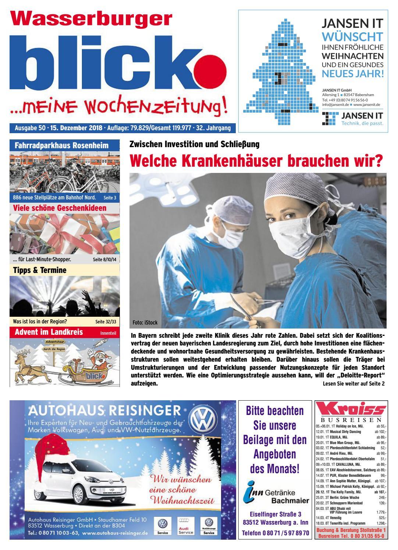 Wasserburger blick - Ausgabe 50 | 2018 by Blickpunkt Verlag ...