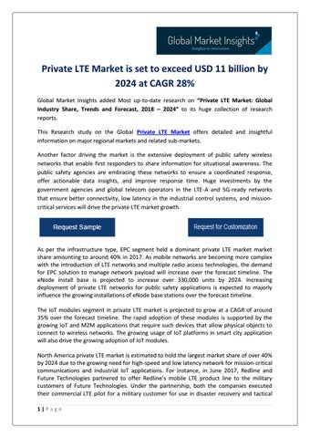 Private LTE Market 2024: Industry Analysis, Size, Share