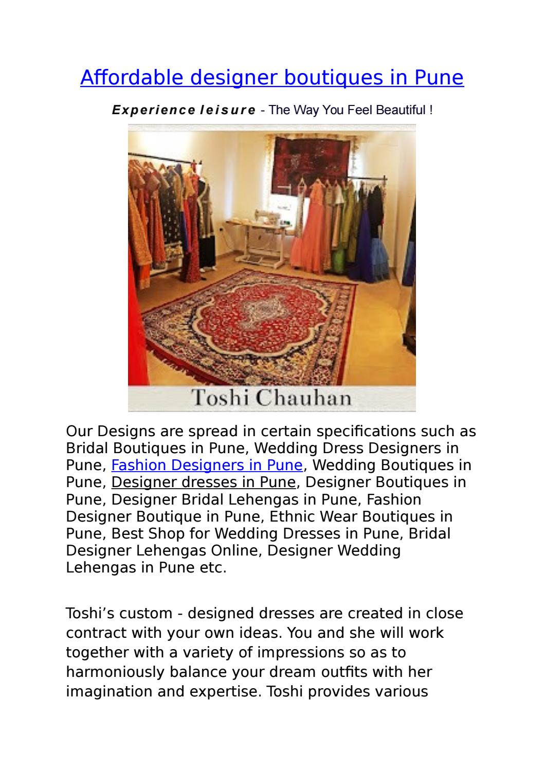 Affordable Designer Boutiques In Pune By Alpita Kavitake Issuu