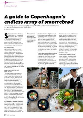 Page 108 of Copenhagen's endless array of smørrebrød