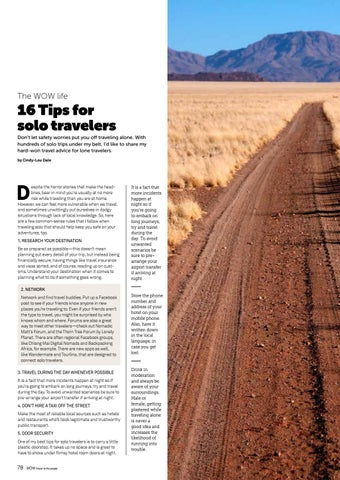 Page 78 of 16 Tips For Solo Travelers