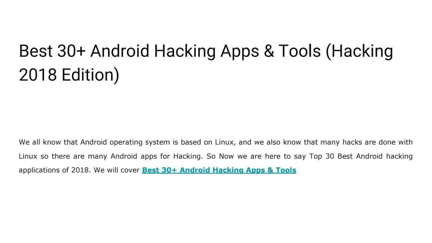 30+ Hacking Apps for Android to Learn Hacking - WiFi Hacking Special