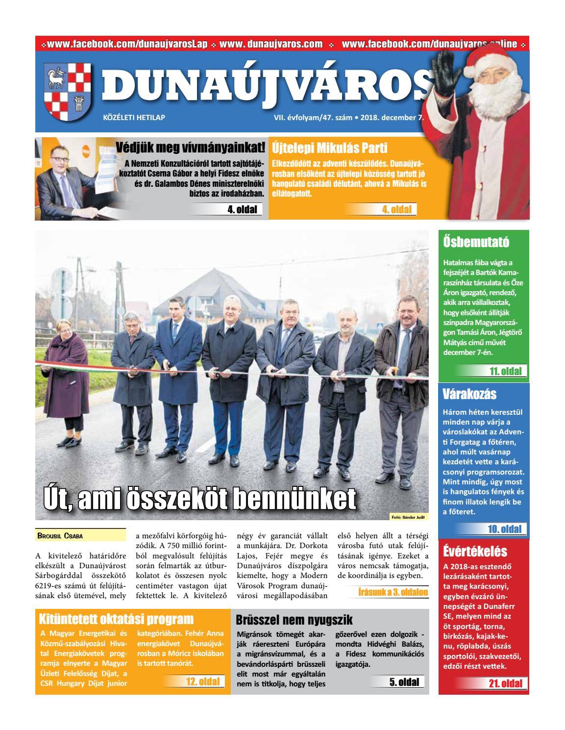 946f9dbce03b DKH_2018-12-07 by Dunaújváros Közéleti Hetilapja - issuu
