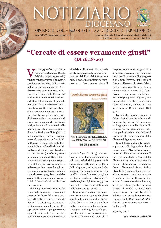 Padre Michele Vassallo Calendario 2019.Notiziario Diocesano Gennaio 2019 By Ufficio Comunicazioni