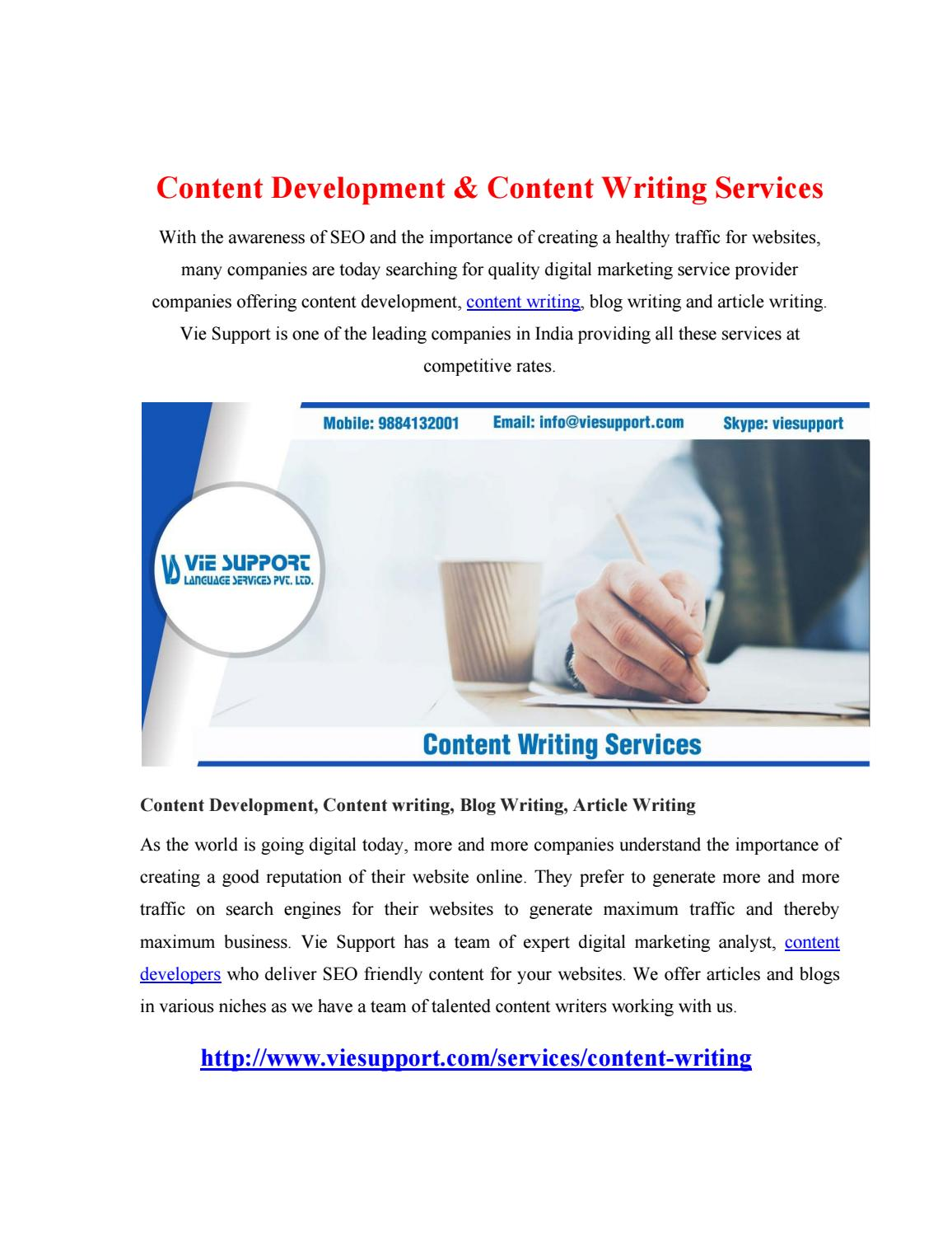 Content Development  Content Writing By Yandex  Issuu