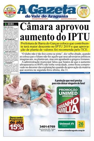 A Gazeta do Vale do Araguaia - Edição - 1.451 by A Gazeta do Vale do ... 547f284f1a27c