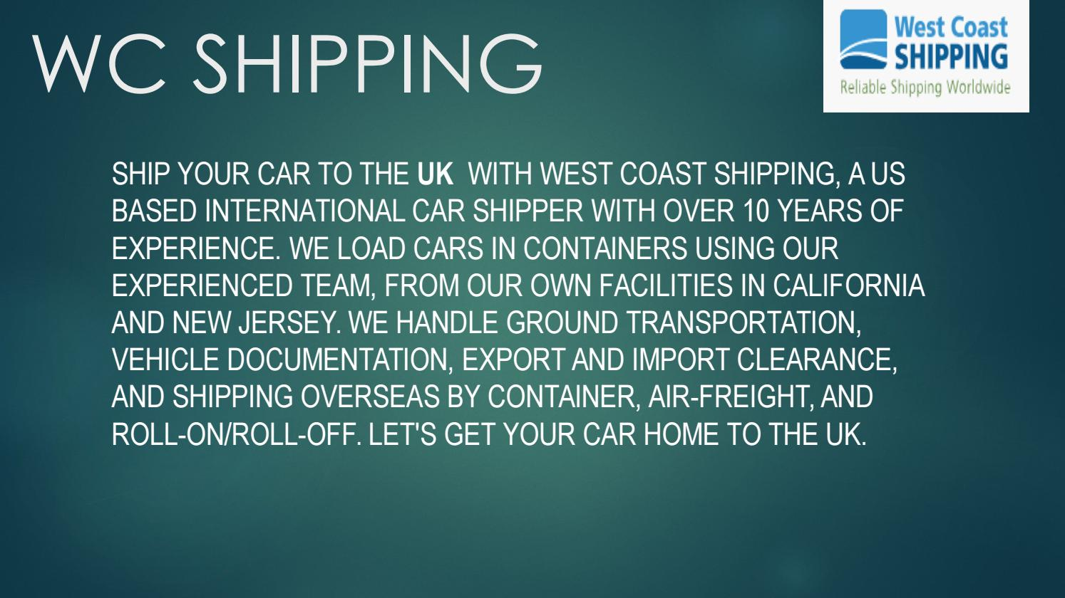 Wc Shipping Vehicle Shipping Company By Wcshipping01 Issuu