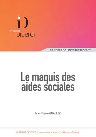 Le Maquis Des Aides Sociales By Institut Diderot Issuu