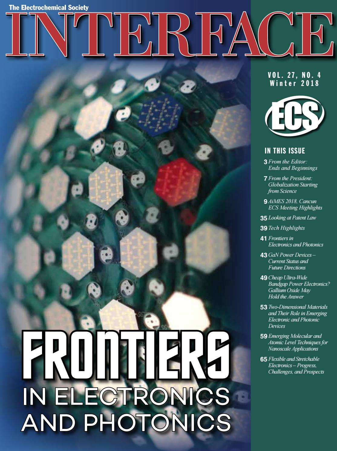 2dcf66b8b65 Interface Vol. 27, No 4., Winter 2018 by The Electrochemical Society ...