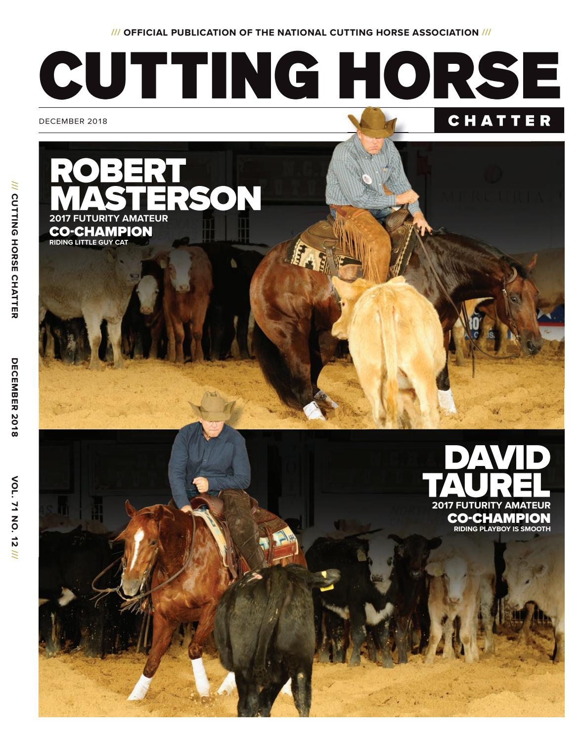 Cutting Horse Chatter by Cowboy Publishing Group - issuu bedd2164d147