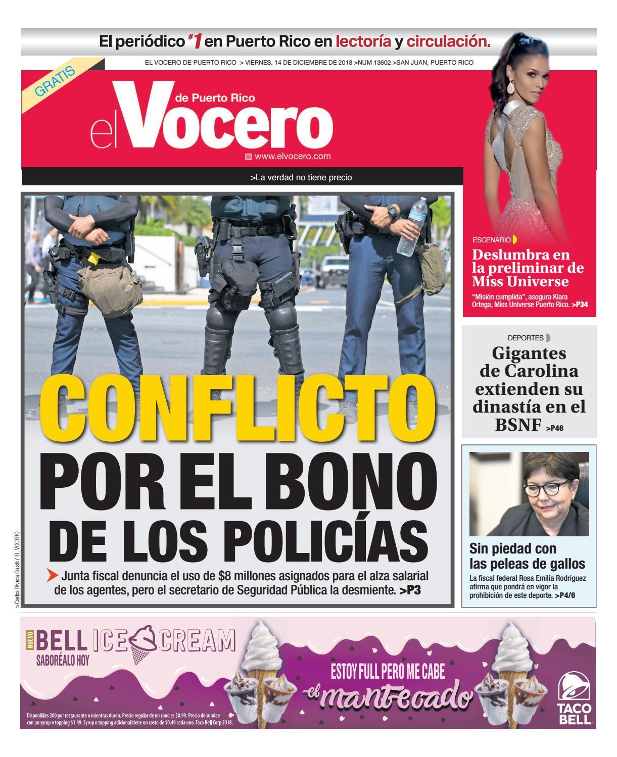 8a23bc2f0 Edición  14 de diciembre de 2018 by El Vocero de Puerto Rico - issuu