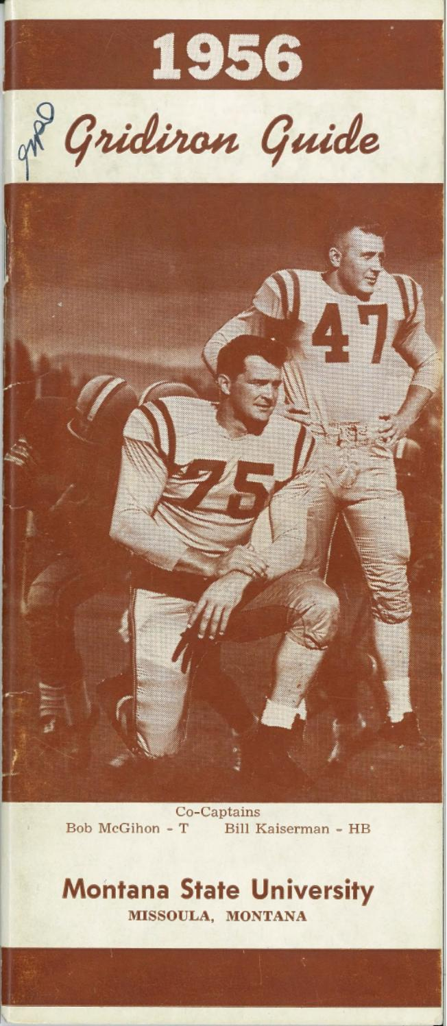 1956 Football Media Guide by University of Montana Athletics