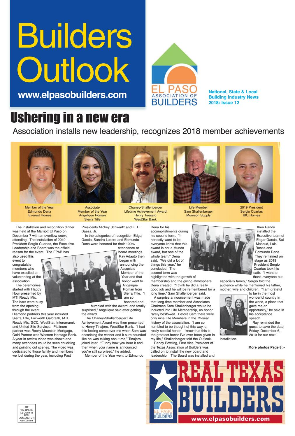 Builders Outlook 2018 Issue 12 by Ted Escobedo - issuu