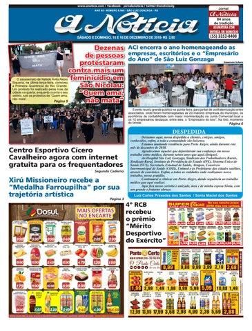 Edição de 15 e 16 de dezembro de 2018 by Jornal A Notícia - issuu 4a6200463b5d3