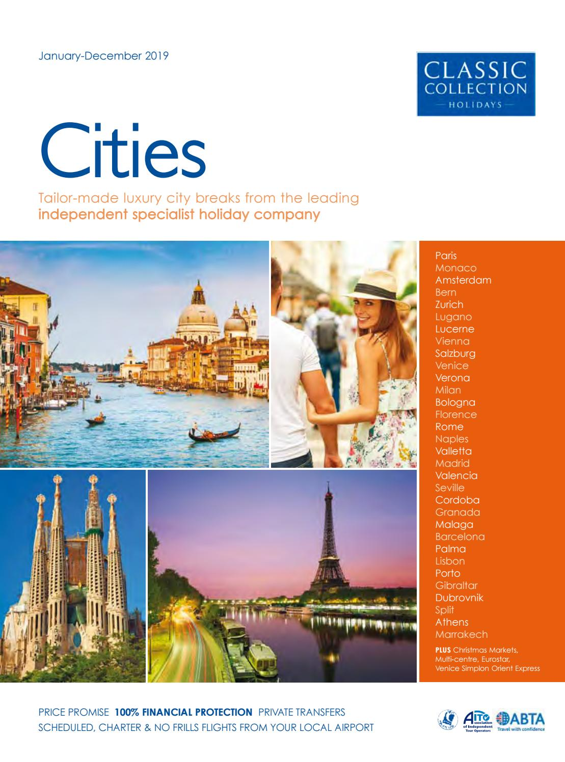 Classic Collection Holidays Cities 2019 By Travel Designers