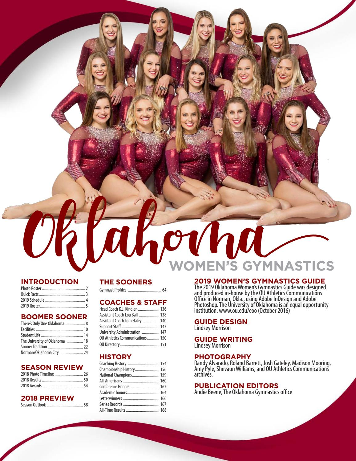 2019 OU Women's Gymnastics Media Guide by OU Athletics - issuu