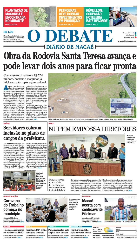 d12baca0f6 Edição 9705 15-16-17-12-2018 by O DEBATE Diario de Macae - issuu