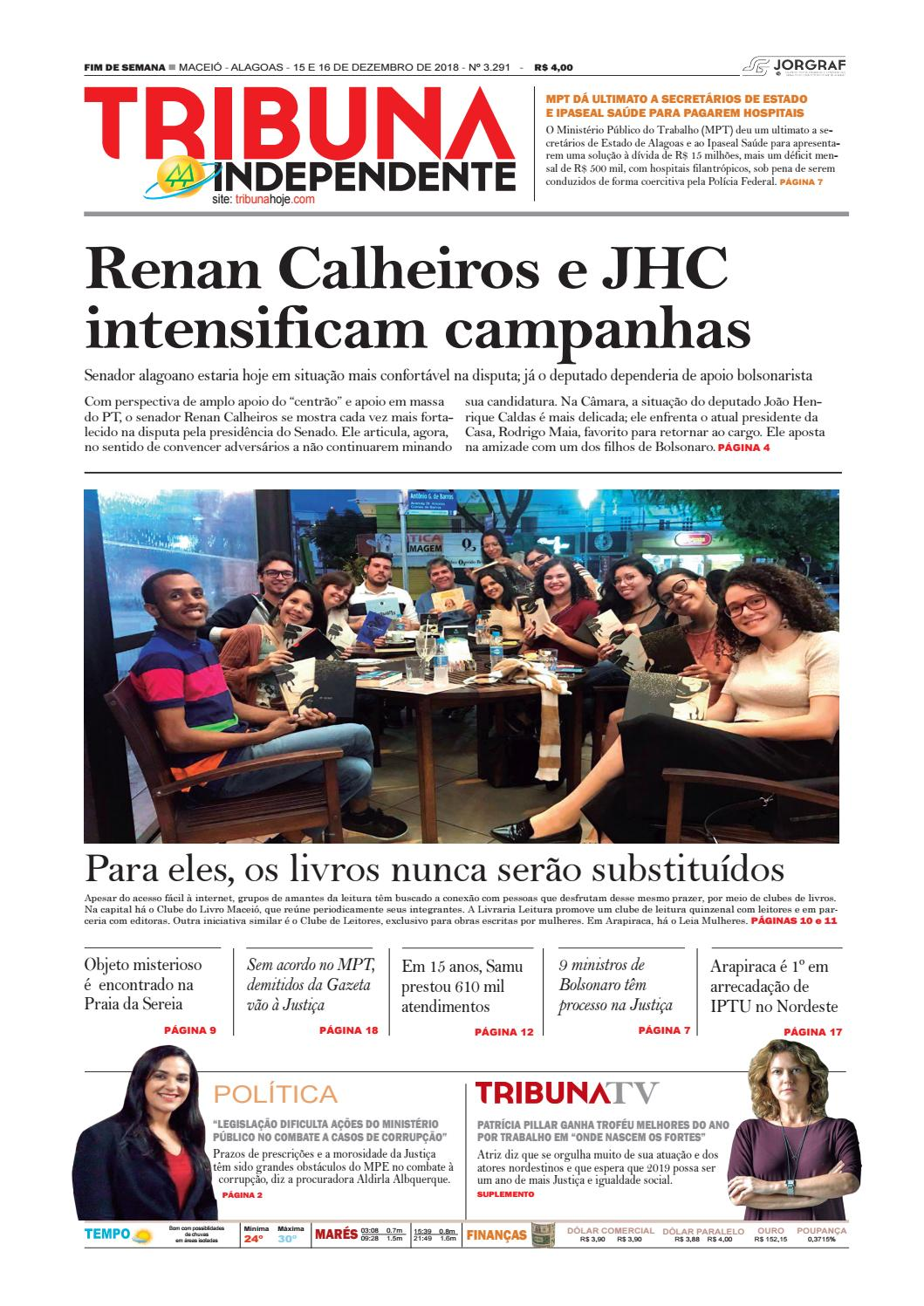 0de61b18ca Edição número 3291 - 15 e 16 de dezembro de 2018 by Tribuna Hoje - issuu