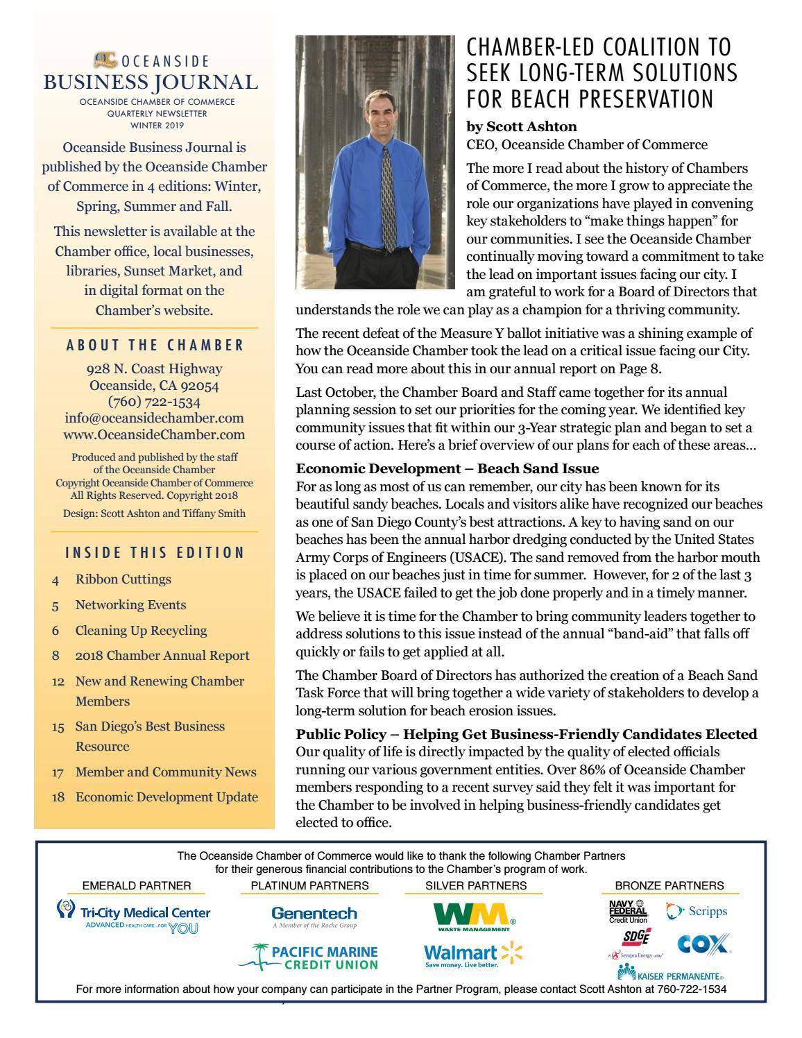 Best of OCEANSIDE Business Journal January 2019 Winter