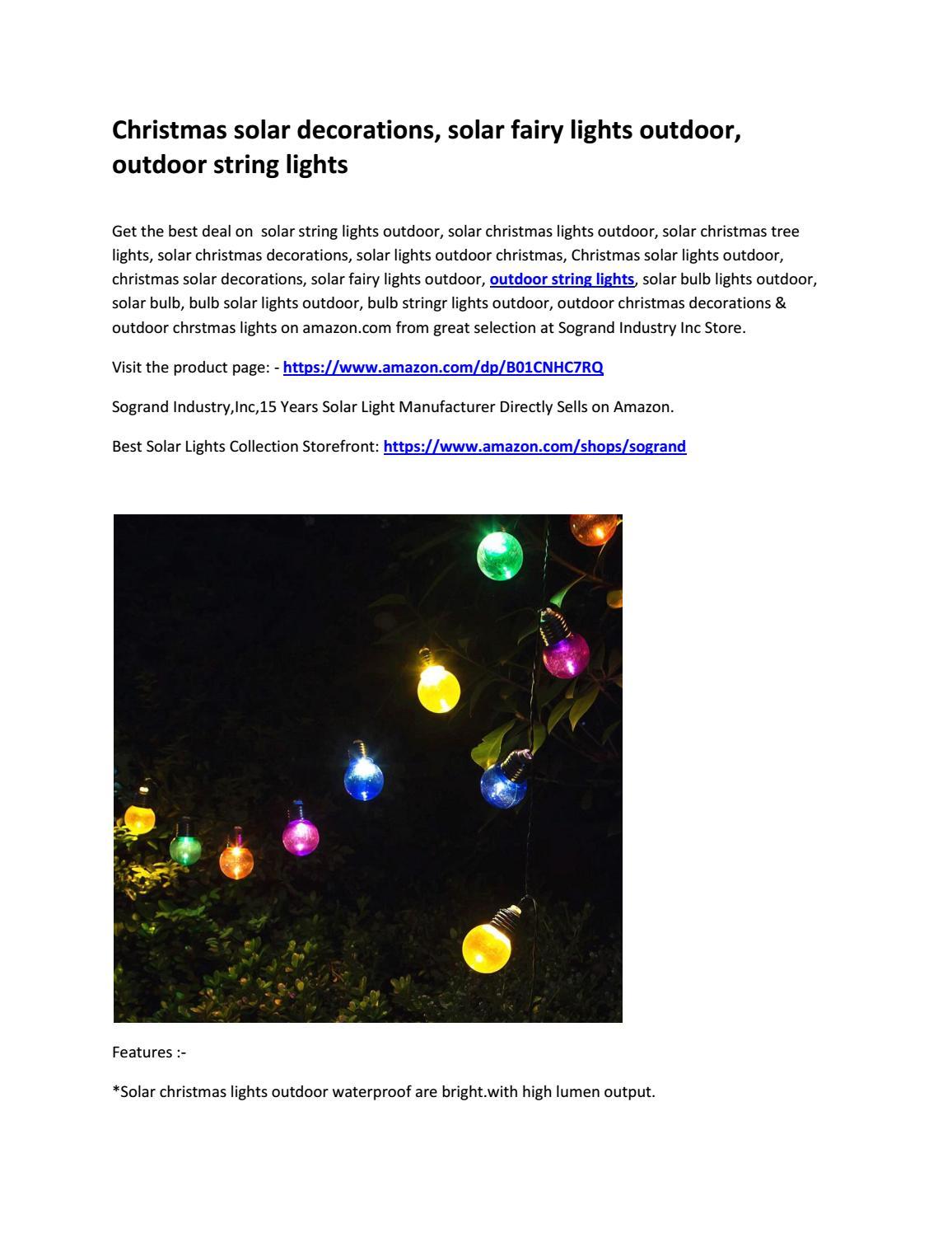 Christmas Solar Decorations Solar Fairy Lights Outdoor Outdoor
