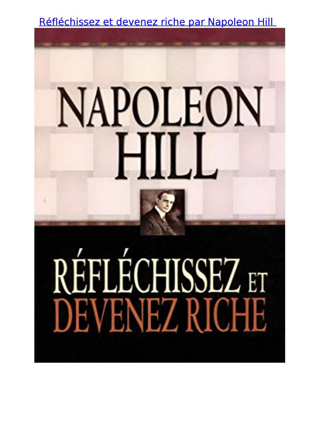 Reflechissez Et Devenez Riche Par Napoleon Hill By Sarah
